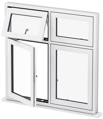 انواع پنجره دو جداره